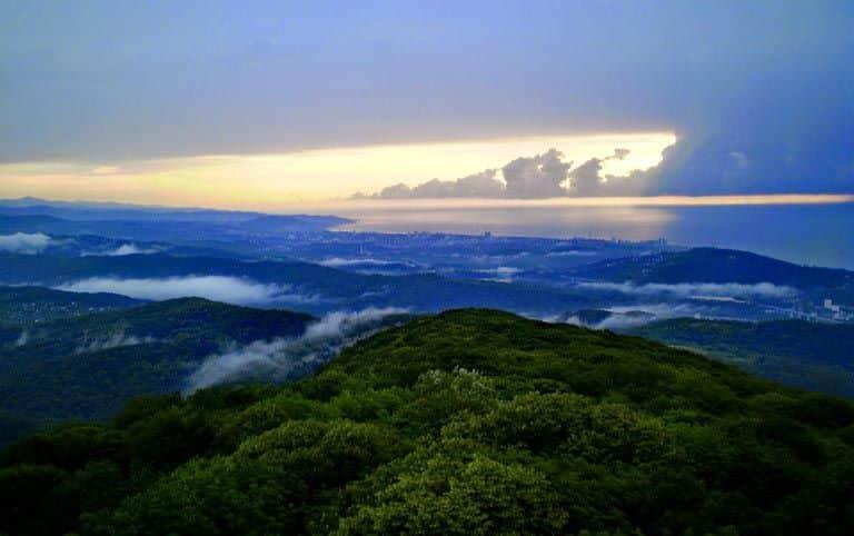 Гора Ахун вид на Сочи